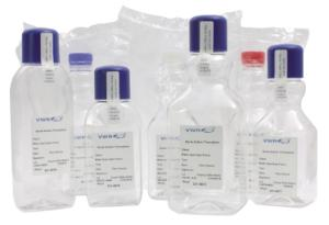 Water sampling bottles, square, sterile