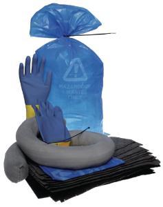 Spill response kit for chemicals