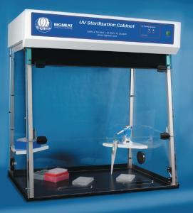 PCR workstation and UV sterilisation cabinet, Bigneat