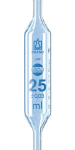 Bulb pipettes (one mark), BLAUBRAND®, class AS, USP