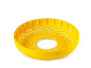 Duran® silicone bottle base protector for 20 L metal dolly, yellow