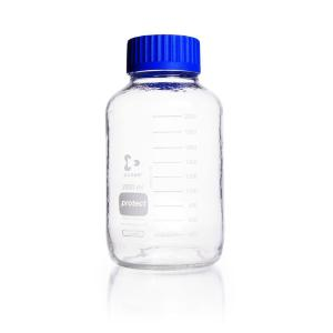 Bottles, wide neck, clear, protect, with GL 80 thread