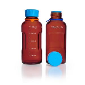 Youtility bottles, amber glass
