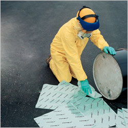 Absorbents (mats, rolls and SOC's) for cleaning up oil, water and chemical-based spills